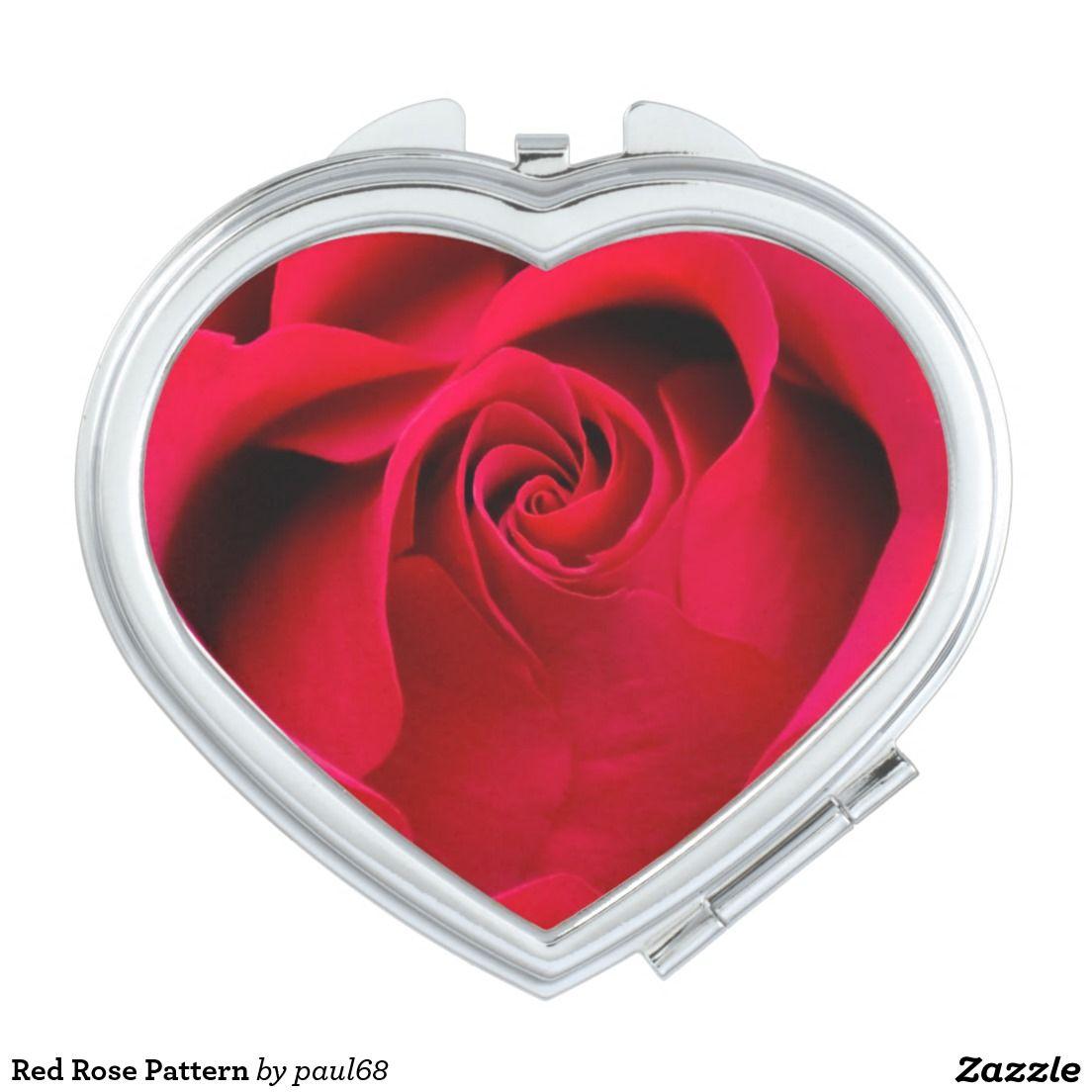 Red Rose Pattern Vanity Mirrors