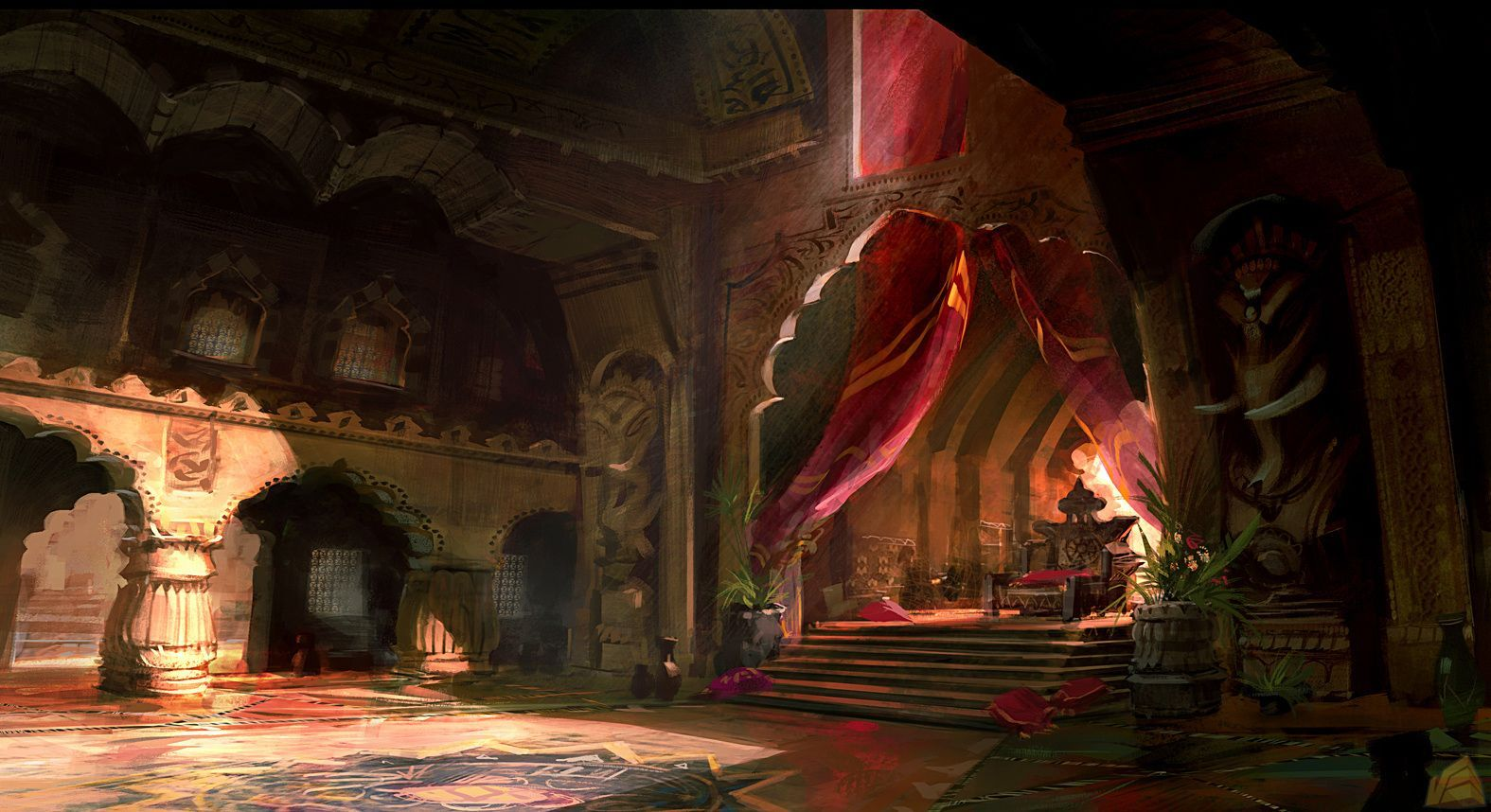 Throne Room Painting