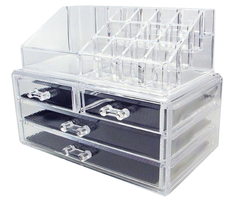 feibrand acryl make-up-organisator 20 sektionen für make-up-sets, Badezimmer ideen