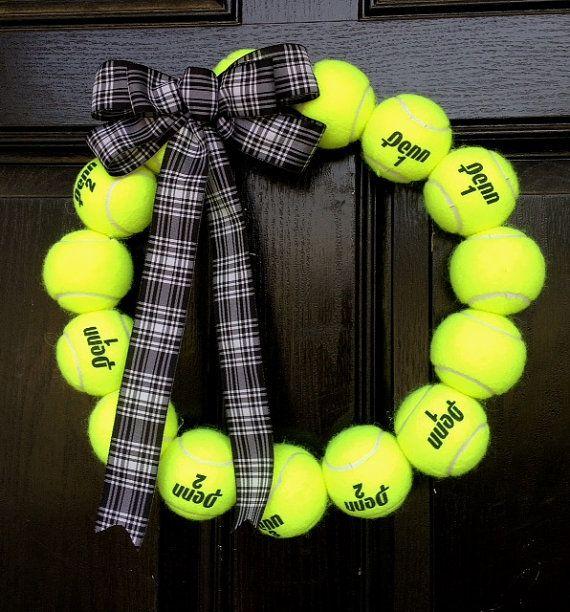 Tennis Ball Wreath - Tennis Coach 995c0045e59