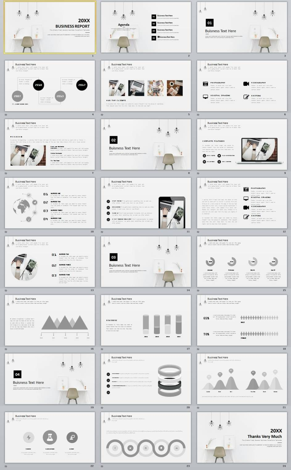 24 Simple Business Powerpoint Template Download