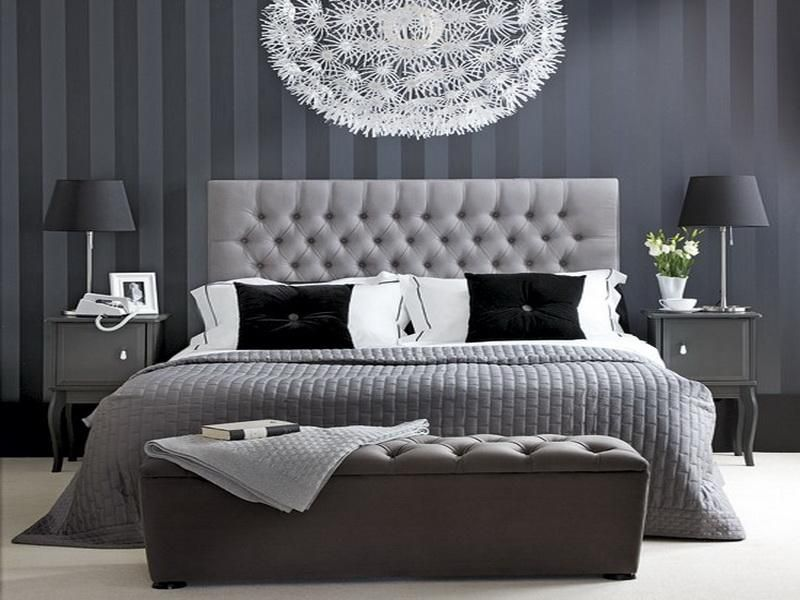 Bedroom Gray And White Home Decor With Wall Art Tips Plus ...
