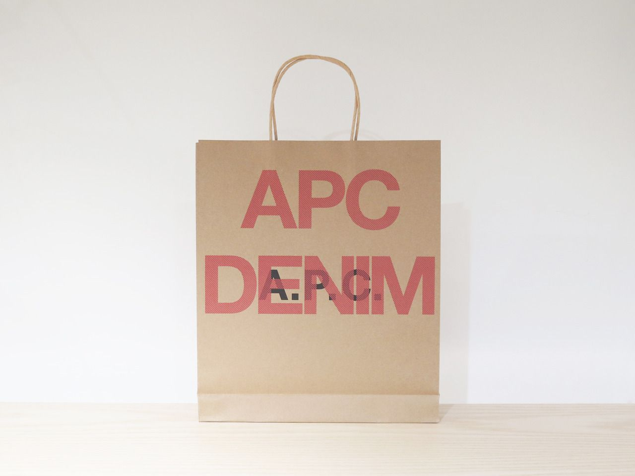 Apcofficial New A P C Denim Kraft Paper Bag I D E N T I T Y
