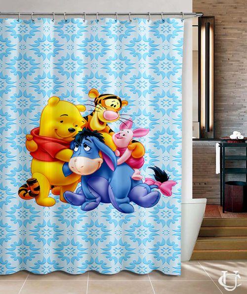 Disney Eeyore And Winnie The Pooh Shower Curtain Disney 39 S Bathrooms Curtains Shower Bathroom