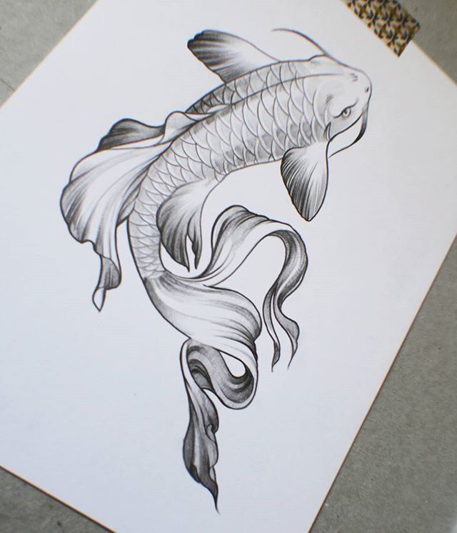 Tattoo for a friend tattooart tattoo tattoos fish for Carpe koi japonaise