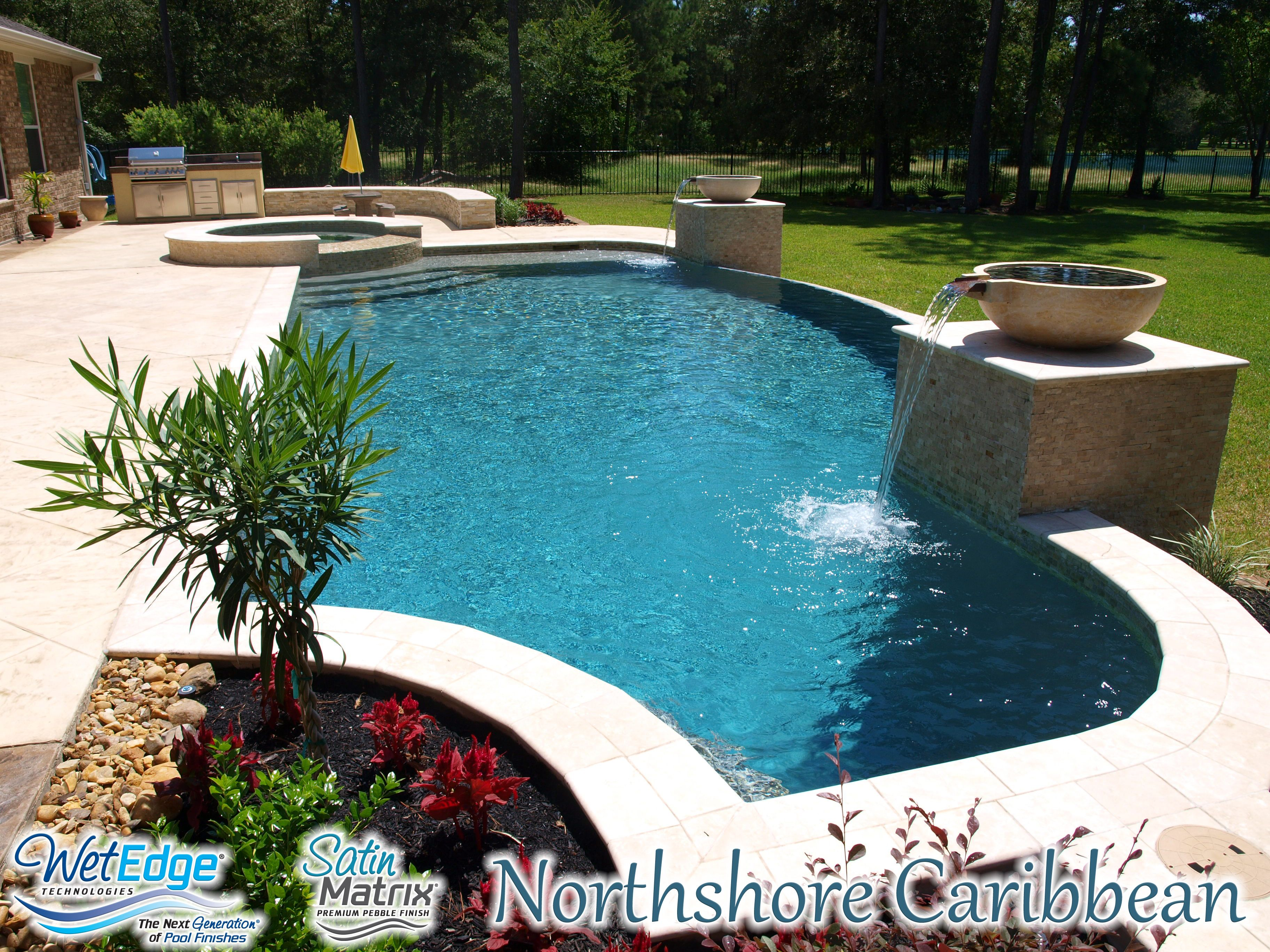 Satin Matrix Northshore Caribbean Pool Colors Pool Plaster