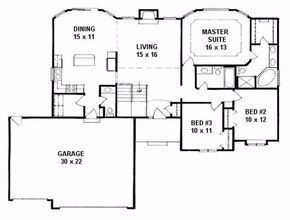 This inviting ranch style home with traditional design influences has over 1500 sq ft of living space The one story floor plan includes 3 bedrooms