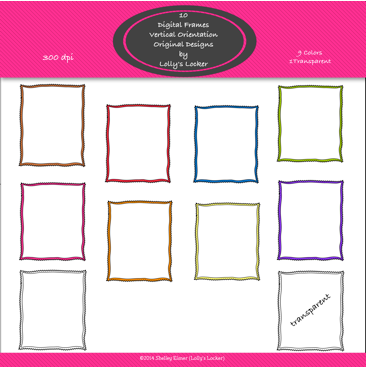 FREEBIE! This set includes 10 high resolution fun frames in yellow ...
