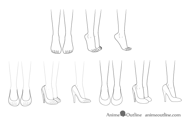 How To Draw Anime Shoes Step By Step Animeoutline Anime Drawings Drawing Anime Clothes Fashion Drawing Sketches