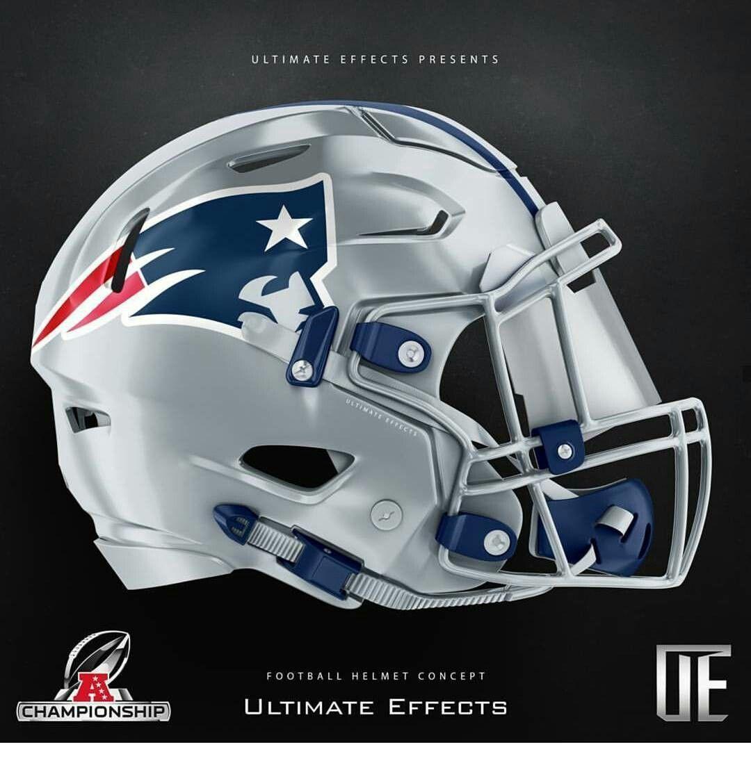 Patriots All Silver Helmet | Football helmets, College ...