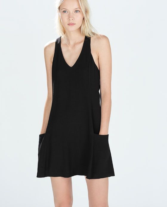 Image 2 Of Flared Dress With Pockets From Zara Womens