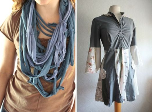 Upcycle Old Clothes T Shirt Ideas Scarves Creative Diy Reuse Decorate Refashion Clothes Altering Clothes Clothes