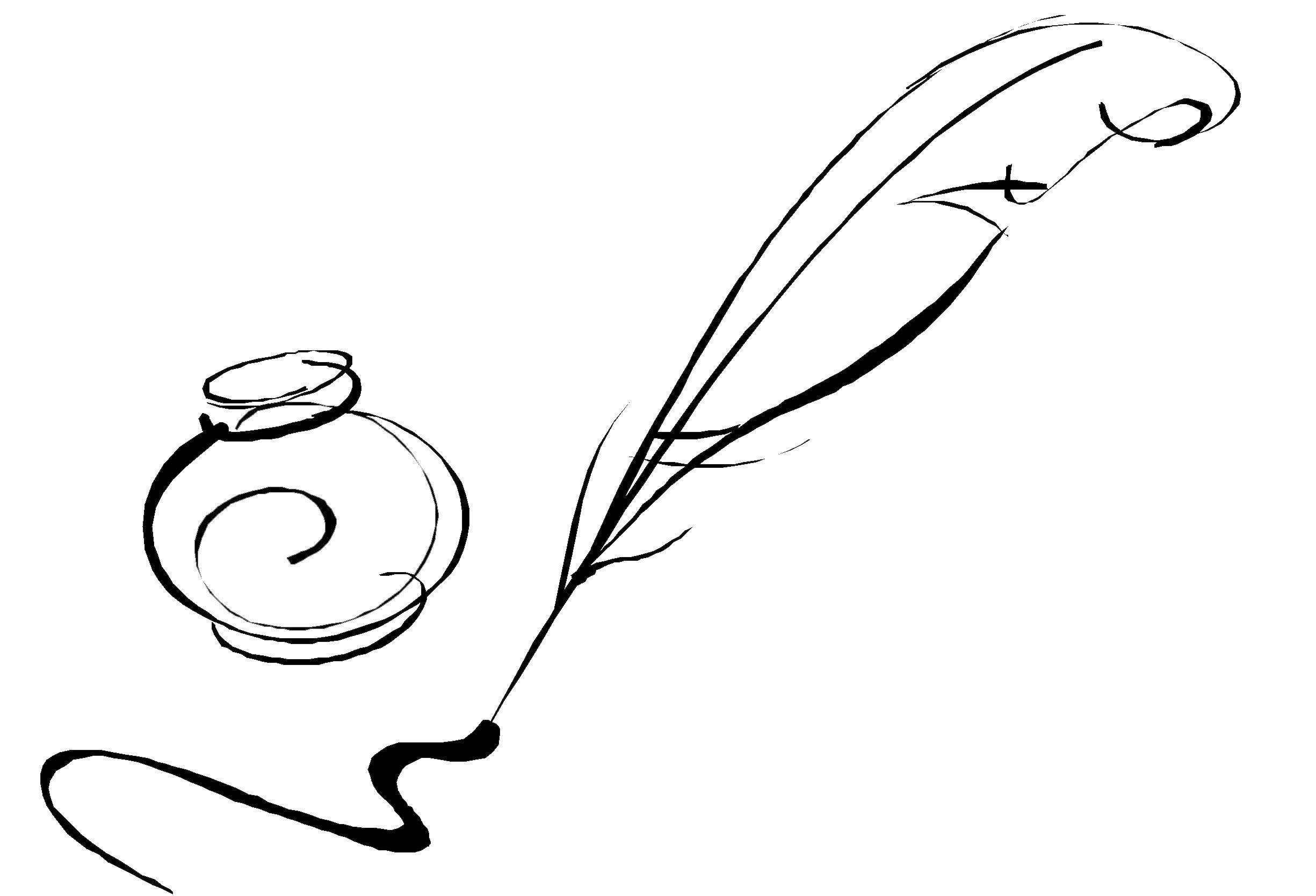 images for  u0026gt  feather pen logo