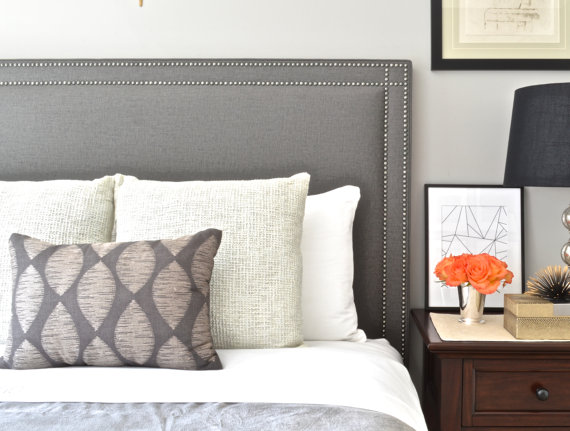 Upholstered Headboard, King, Queen, Full, Twin, Oxford