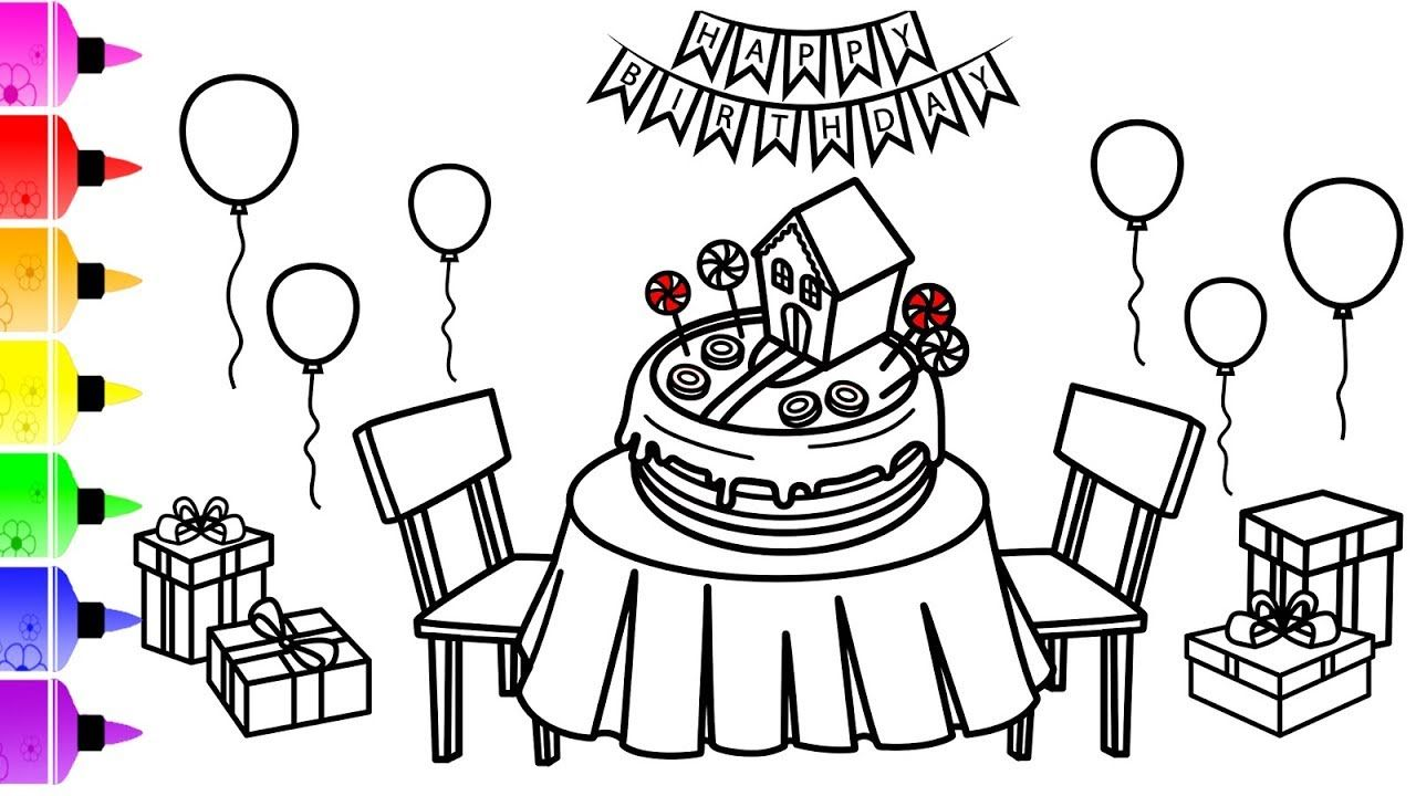 48+ Birthday cake and balloons coloring pages inspirations