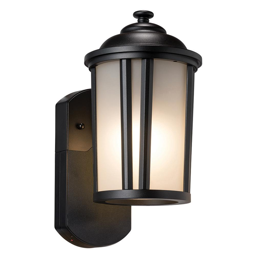 Maximus Traditional Smart Security Companion Textured Black Metal And Glass Outdoor Wall Lantern Sconce Outdoor Wall Lantern Wall Lantern Outdoor Walls