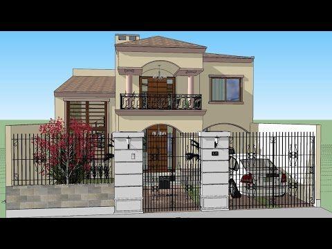 Modelo de casa de dos pisos con garaje planos y fotos for Planos de casas youtube