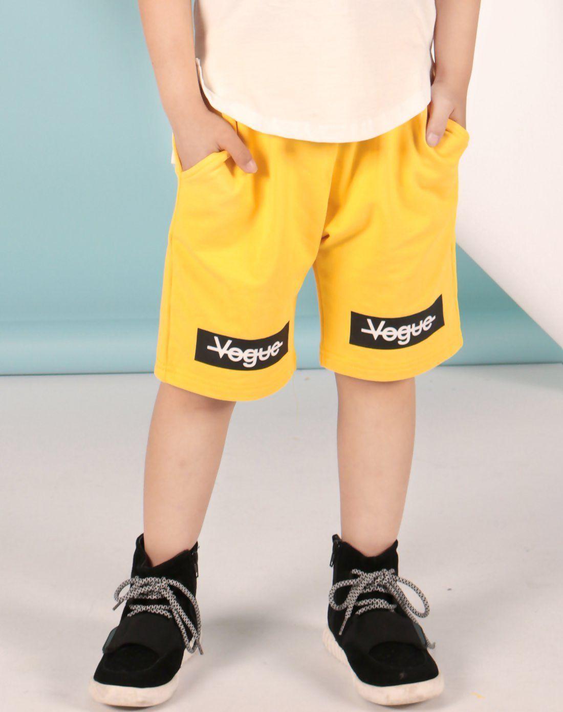 Yellow school summer floral boysu shorts