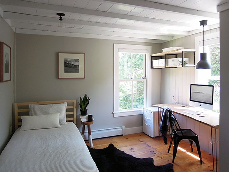 An Antique Connecticut Farmhouse Made Modern Home Office Bedroom