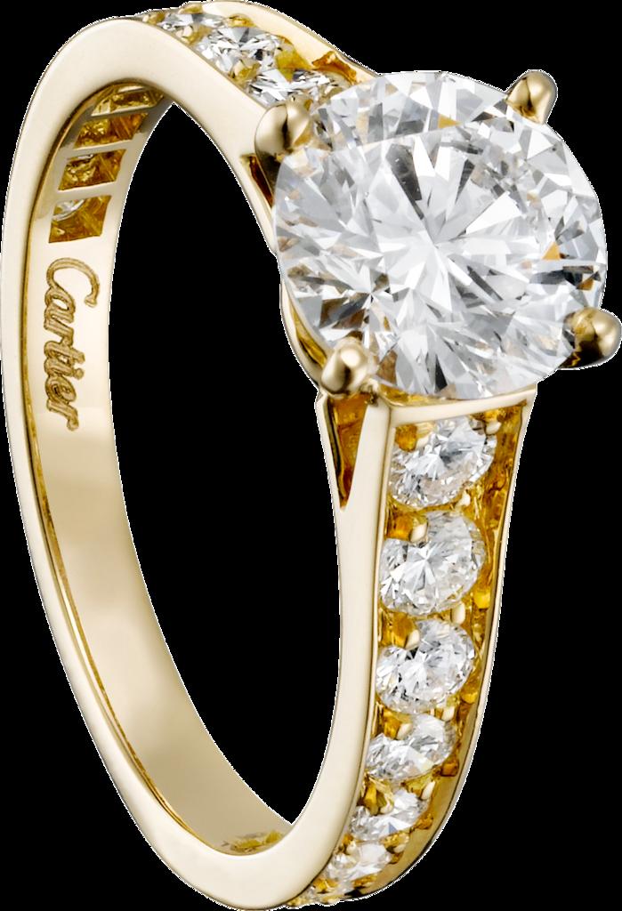 bague de mariage cartier en or avec des petits diamants. Black Bedroom Furniture Sets. Home Design Ideas