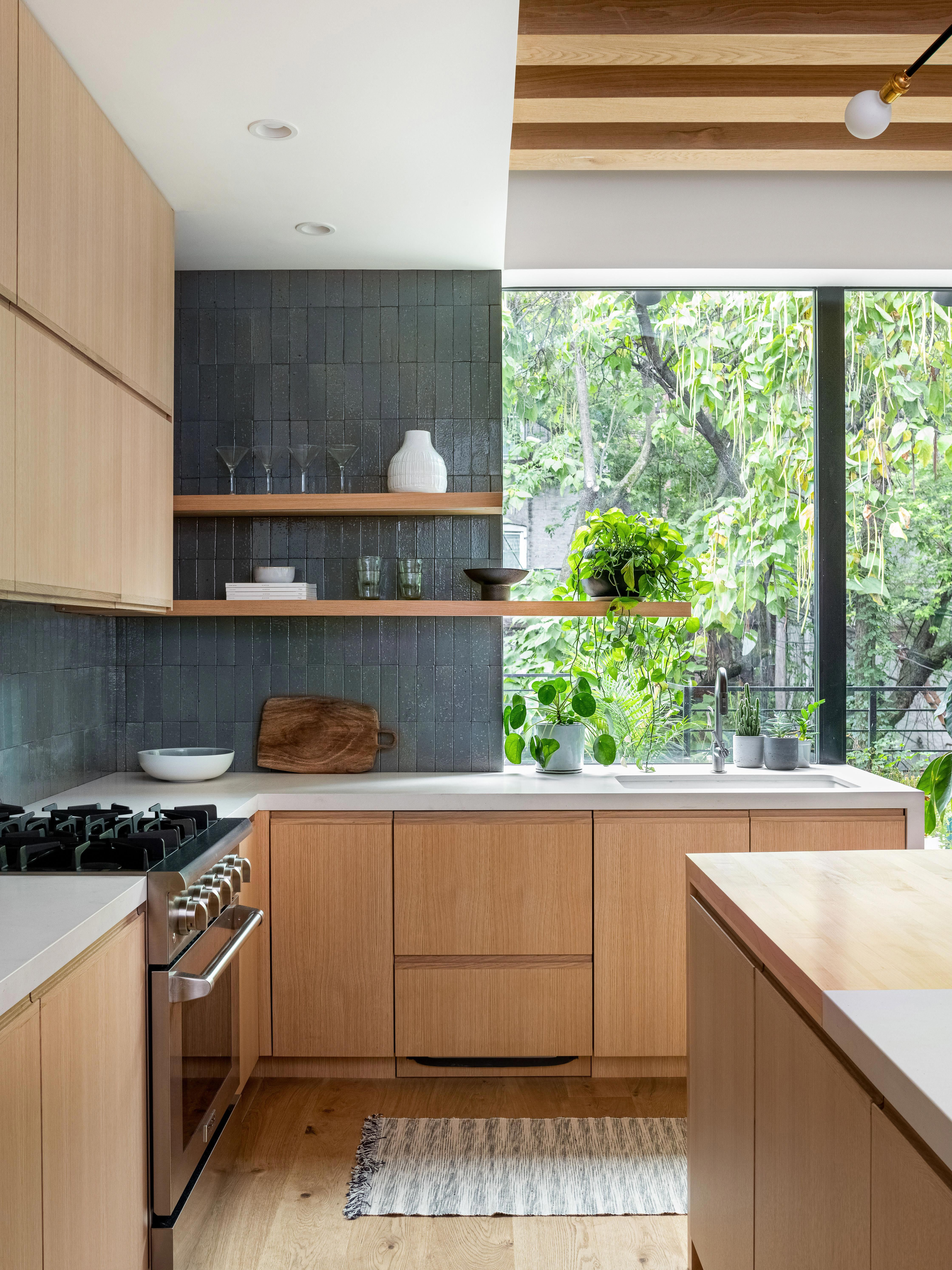This Couple Traded A Powder Room For A Kitchen That Fits All The Neighbors Kitchendesign In 2020 Indoor Outdoor Kitchen Kitchen Inspirations Brooklyn Kitchen