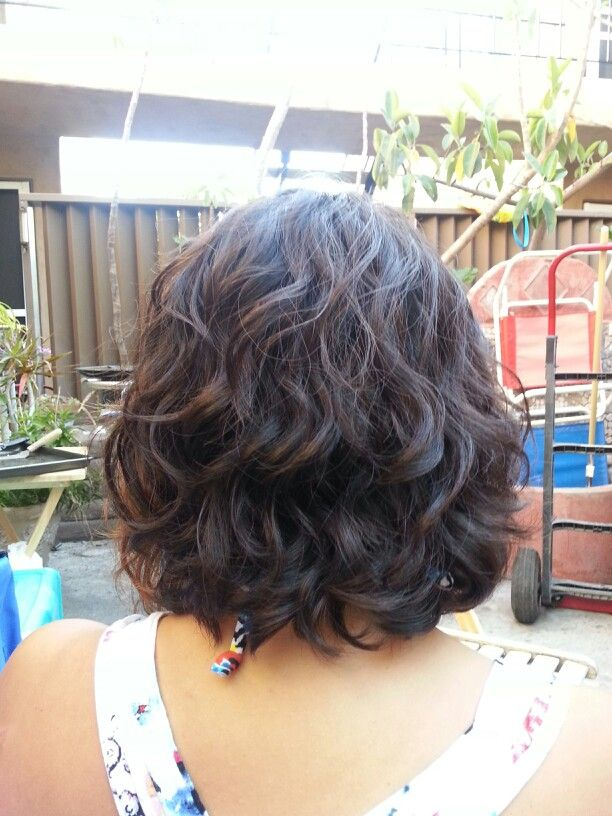 Digital Perm Gonna Have To Look Into This Wave Perm Short Hair Short Permed Hair Hair Styles