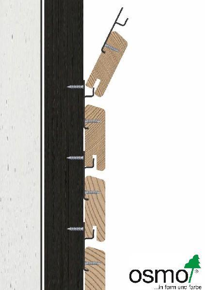 holzfassaden mit rautenleisten sind mit dem system pure von osmo ohne sichtbare verschraubung. Black Bedroom Furniture Sets. Home Design Ideas