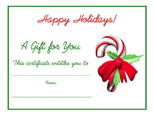Free Holiday Gift Certificates Templates To Print Christmas Gift Certificate Template Christmas Gift Certificate Holiday Gift Certificates