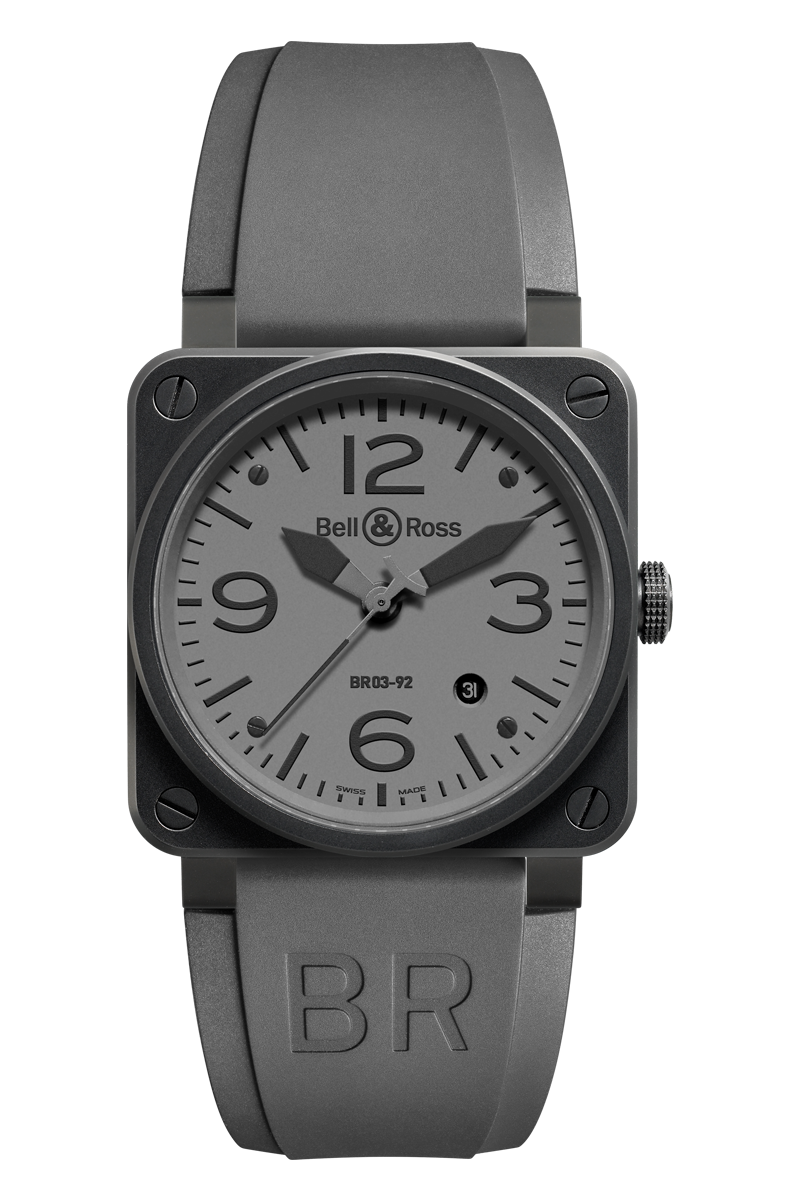As An Aviation Watch For Professional Use The Br 03 With Its 42mm Diameter Is A Smaller Version Of The 46mm Br 01 The Br 03 Comm Bell Ross Aviator Watch Ross