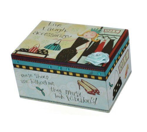 Decorative Keepsake Box Live Laugh Accessorize  Decorative Keepsake  Storage Box 65