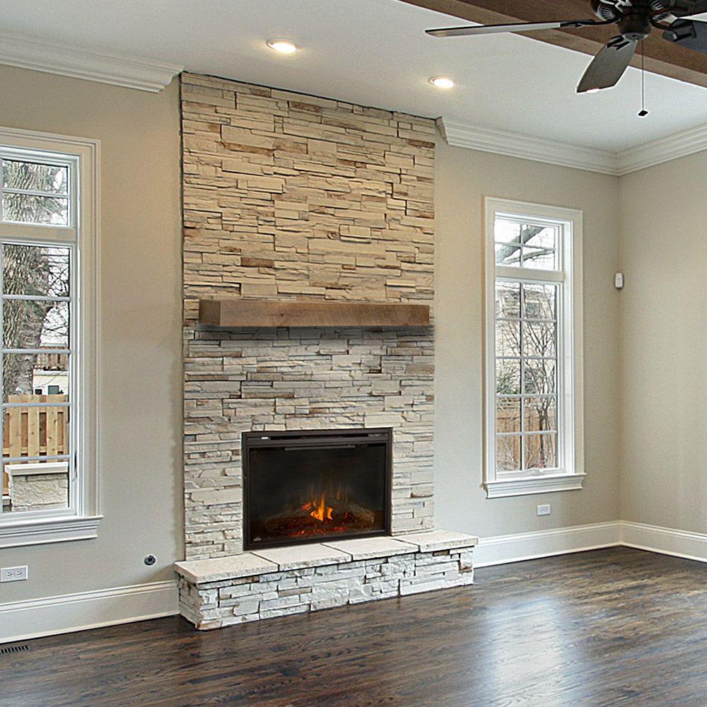 Vail - Wood Mantel Shelf - Fireplace Mantel Shelves ...