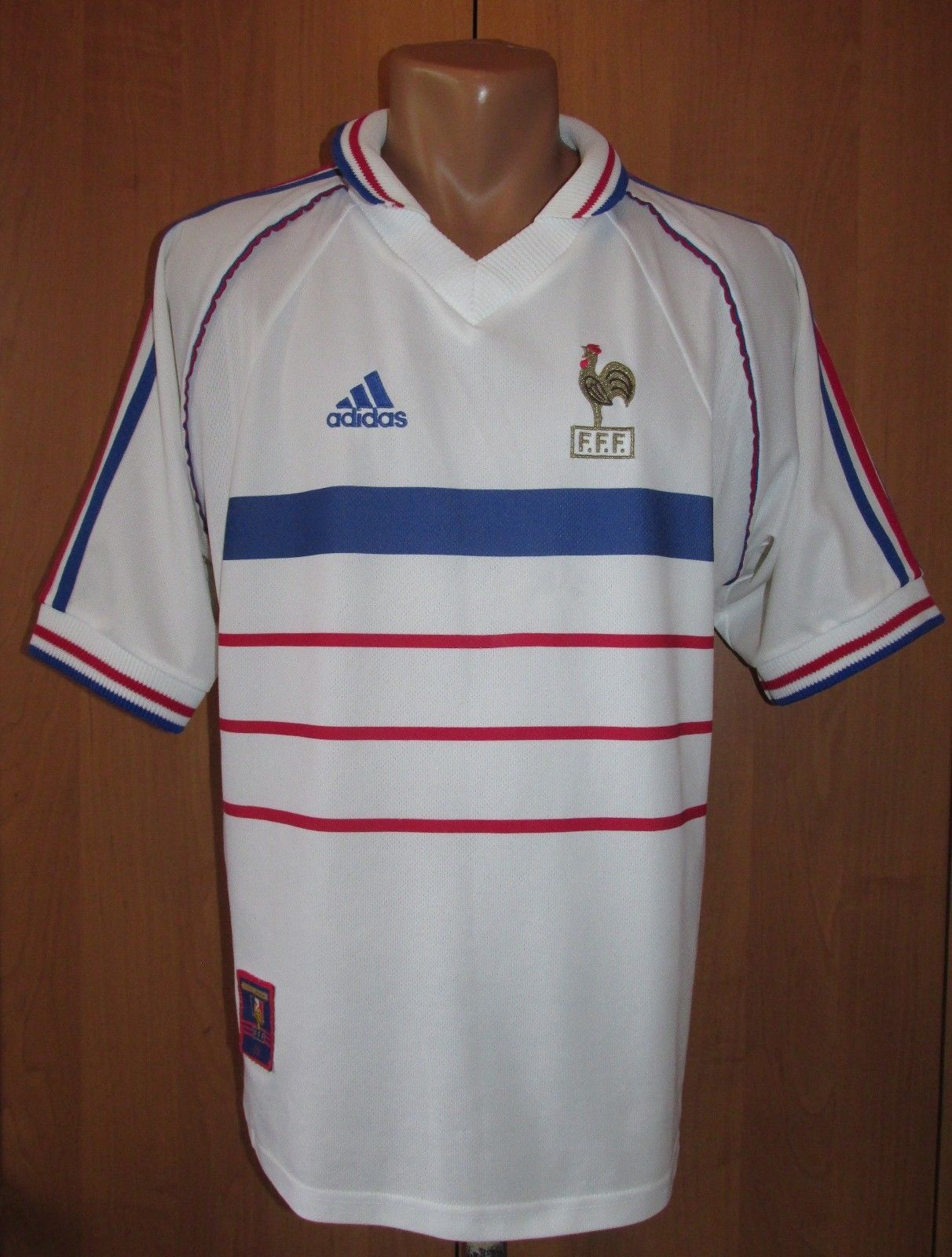 4157cef395 FRANCE 1998 1999 2000 AWAY FOOTBALL SHIRT JERSEY MAILLOT ADIDAS WORLD CUP   98 M (eBay Link)