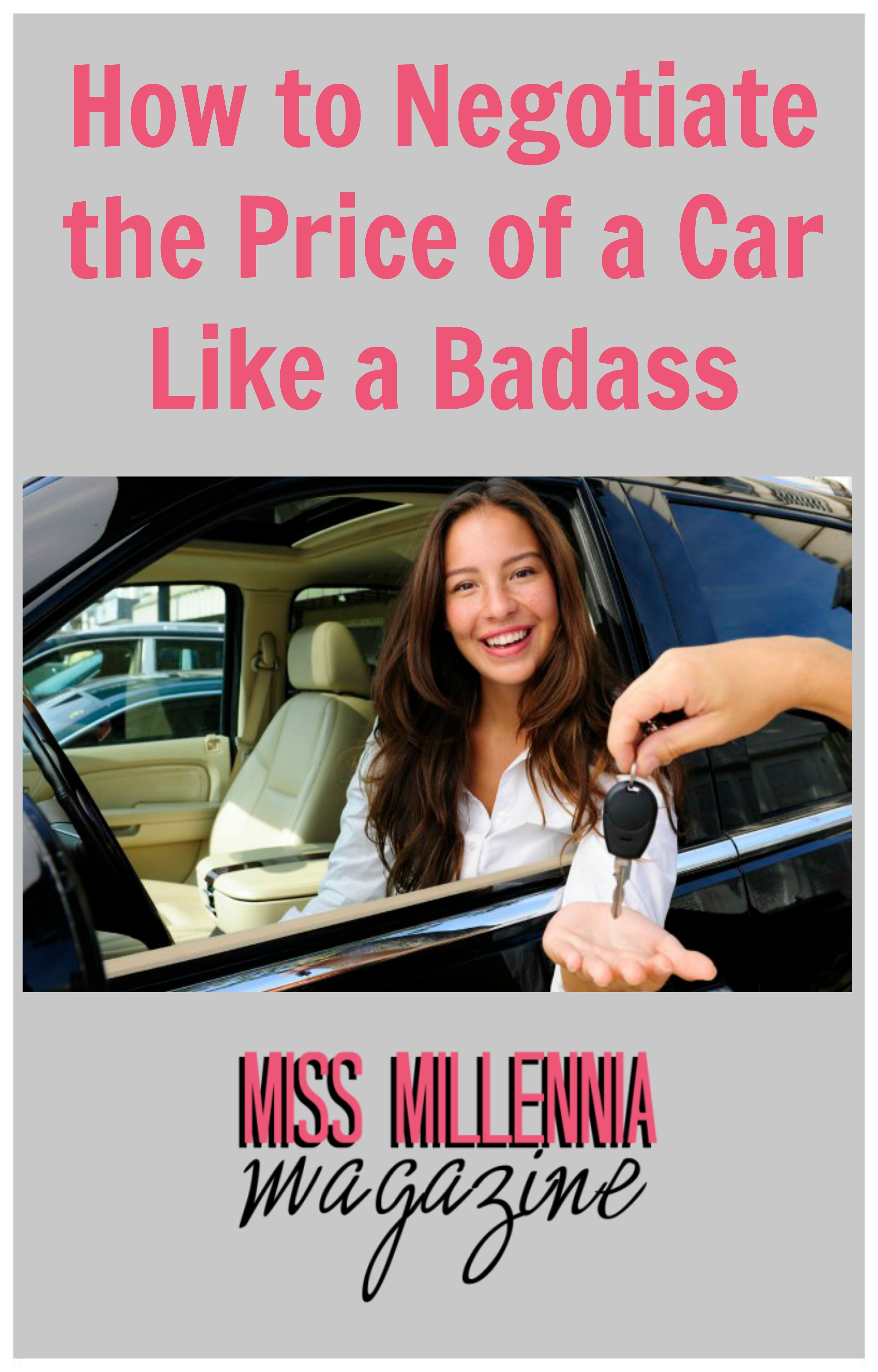 How To Negotiate The Price Of A Car Like A Badass Lifeguide