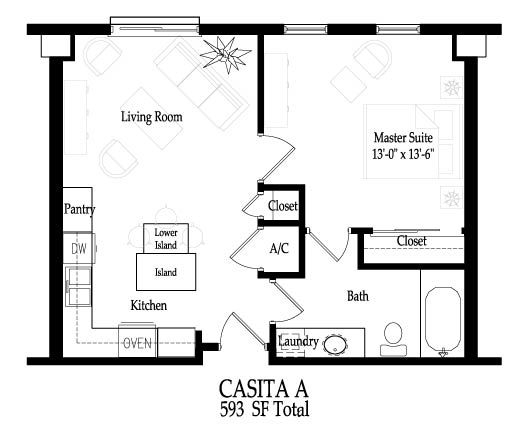Casita Home Plans Home Plans Tiny House Floor Plans House Plans Small House Floor Plans