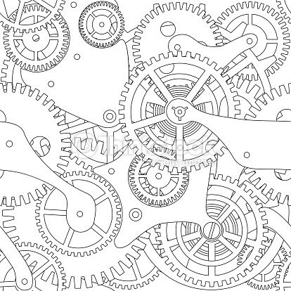 steampunk gears and cogs drawing google search gears clocks