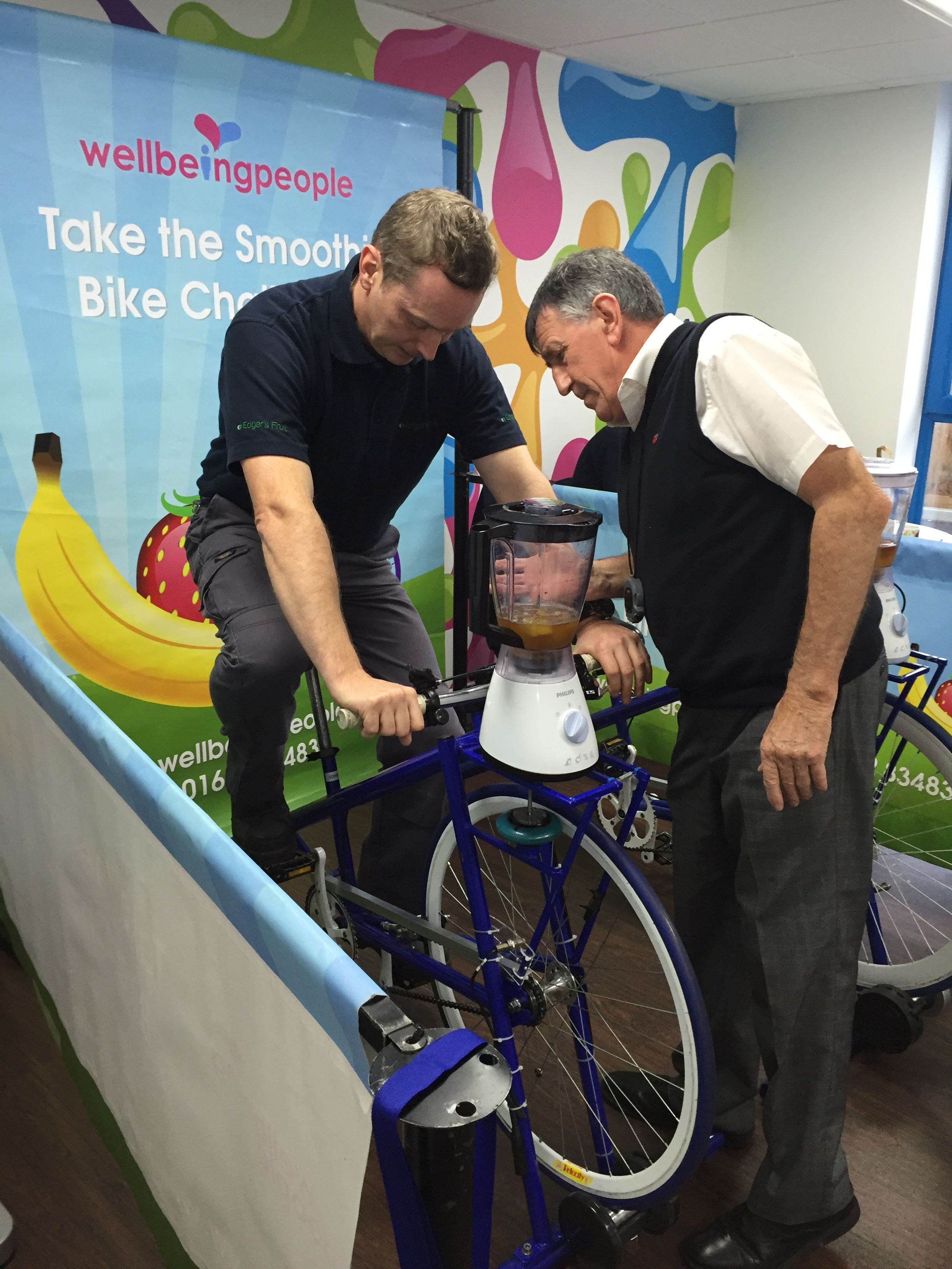 Smoothie bike Challenge, Edgar's. smoothie cycle health