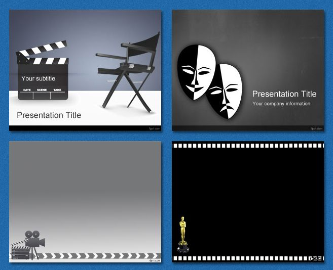 PowerPoint #Templates - Film and Theater | PowerPoint Templates ...