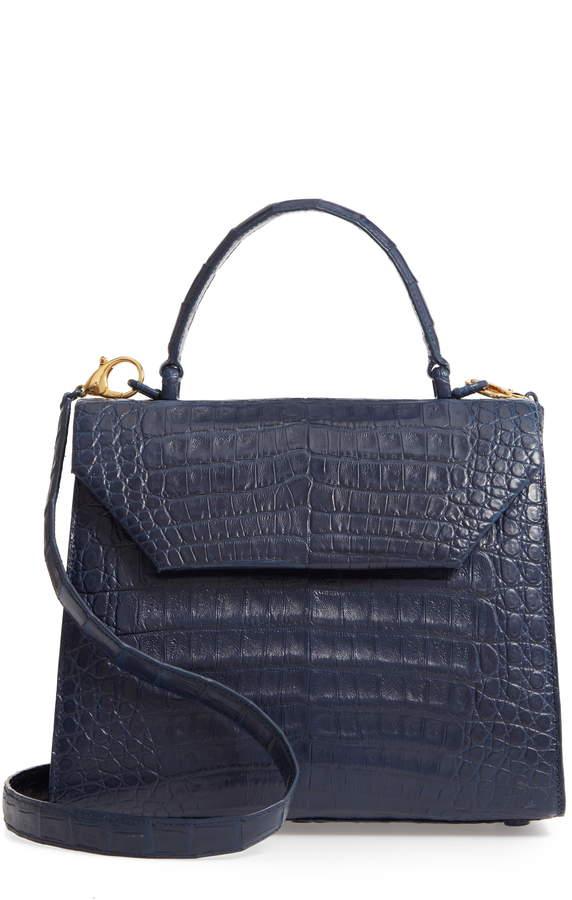 23cd9e5485b1 Nancy Gonzalez Medium Kelly Crocodile Top-Handle Bag - Kelly Green |  Products | Nancy gonzalez, Bags, Kelly green