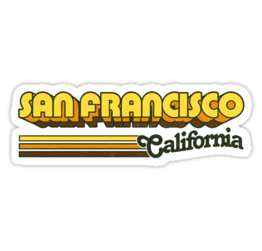 San Francisco Ca City Stripes Sticker By Retroready Tumblr Stickers Hydroflask Stickers Summer Sticker