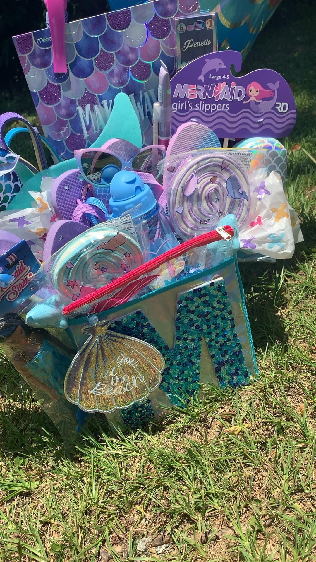 #mermaid #madebyme #zhle #diy #custom #customgiftbasket #customgift #mermaidparty