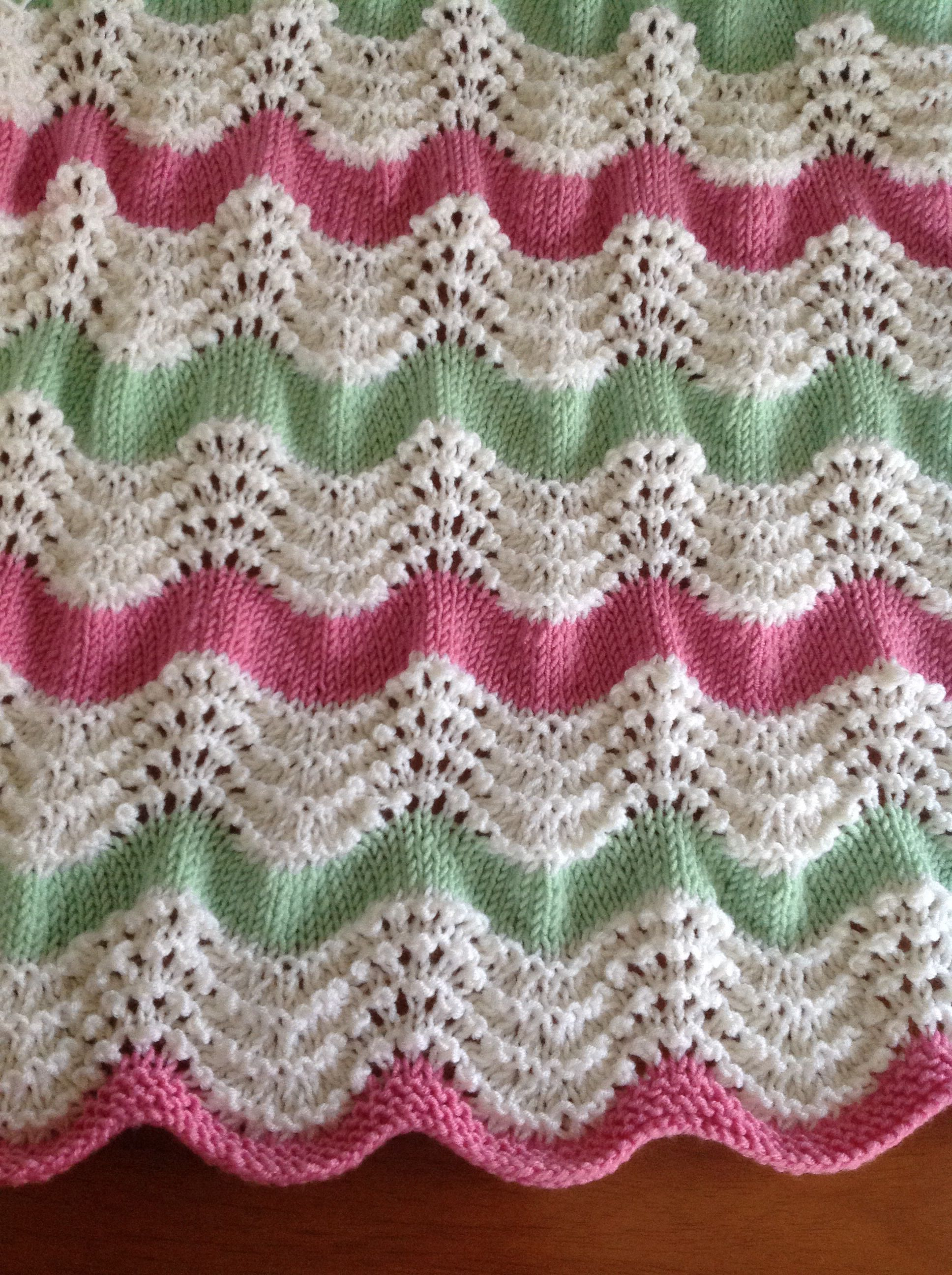 Feather And Fan Baby Blanket Designed By Susy Knits Crochet