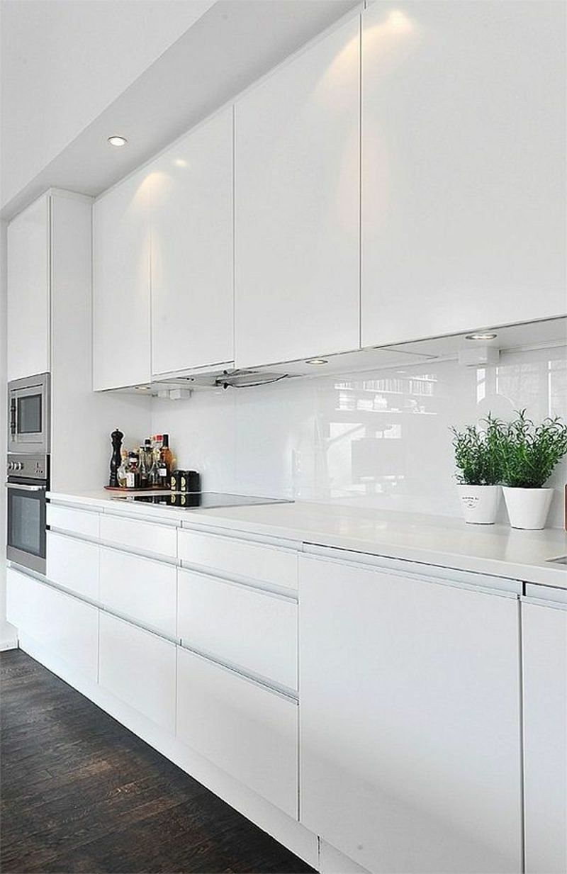 Kitchen Back Wall Ideas And Cool Tips White Modern Kitchen White Kitchen Interior White Kitchen Decor