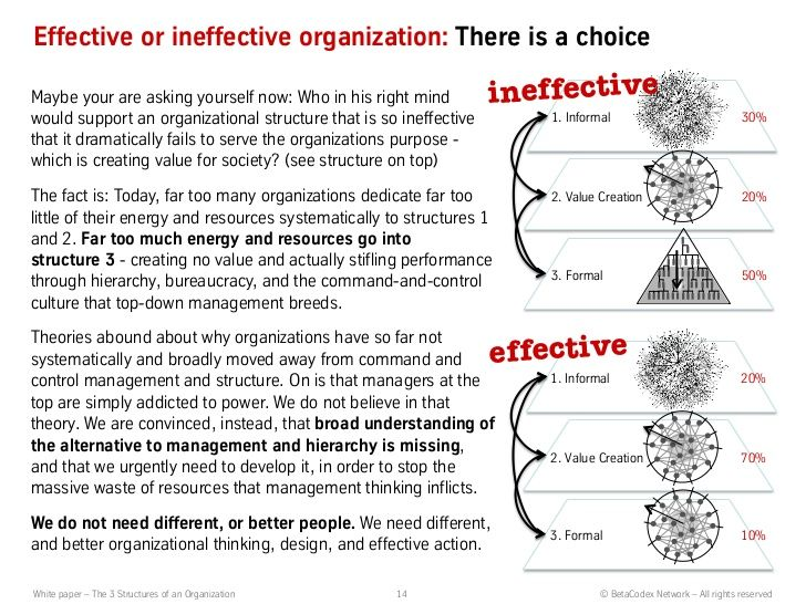 How different organizational structures can help or hinder an individual's progress