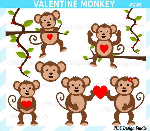 10+ Valentine Jungle Animal Clipart