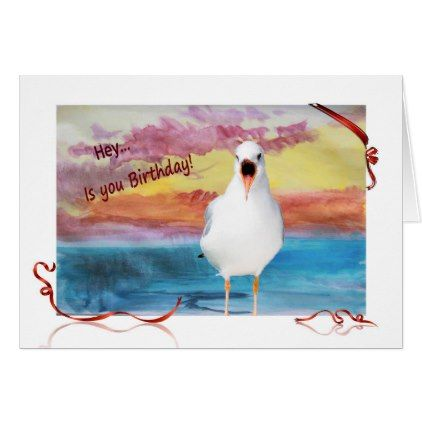 Seagull sing happy birthday card birthday cards invitations seagull sing happy birthday card birthday cards invitations party diy personalize customize celebration bookmarktalkfo Images