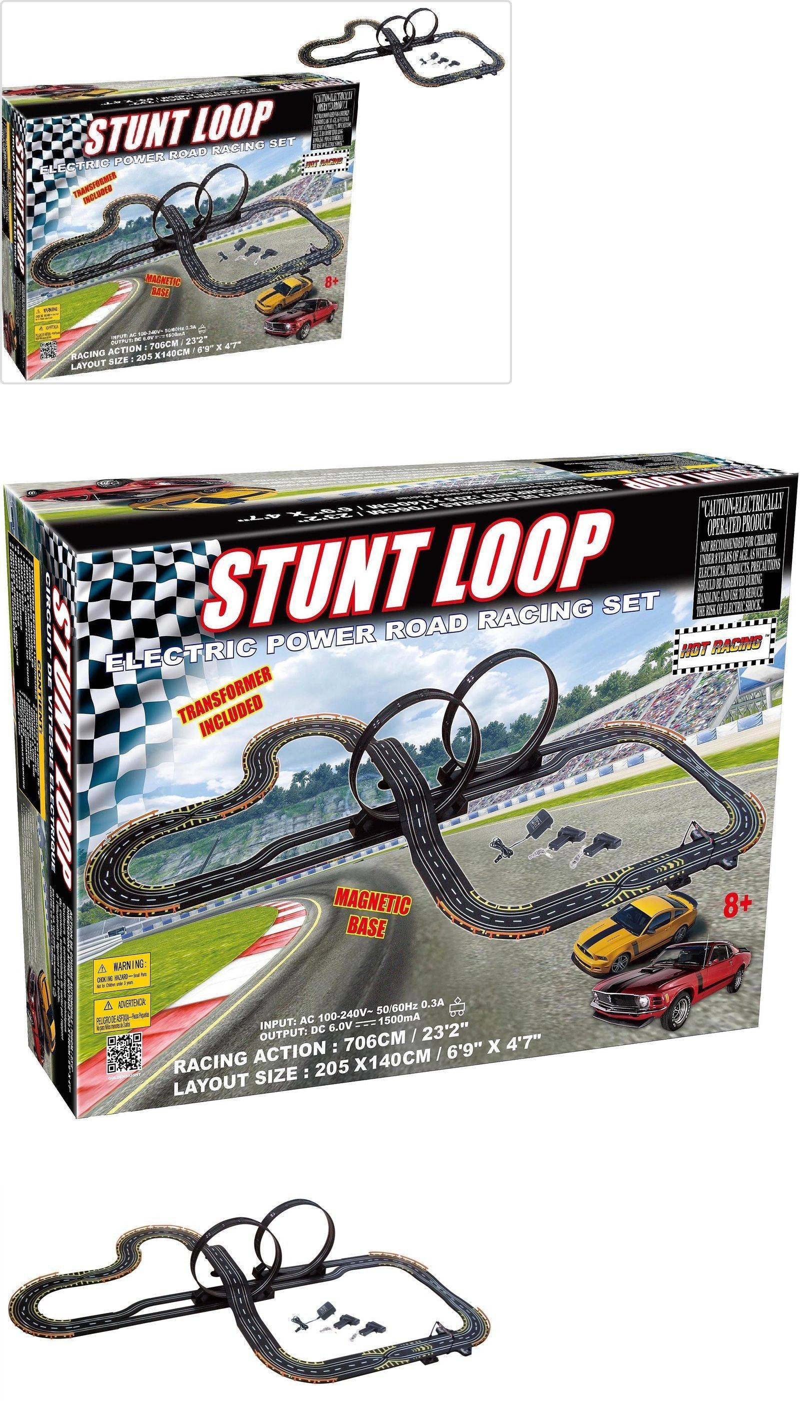 Ho Scale 164787 Racing Track Set Electric Slot Cars Race Stunt Loop Black 2 Ford Mustang Box Usa It Now Only 91 99 On Ebay