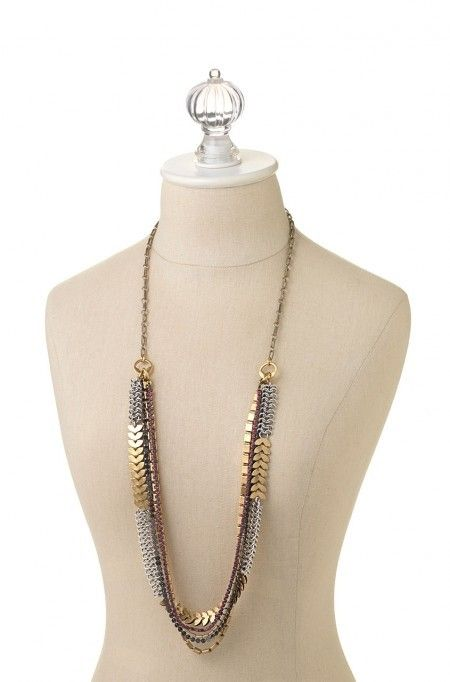 Utopia Statement Necklace - Layers of hand assembled semi precious - statement form