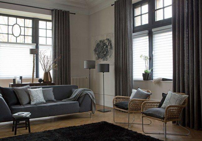 10 combinaisons tentures/stores/voilages pour une déco réussie - store pour fenetre interieur