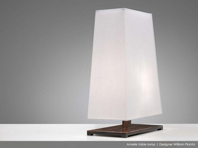 News September 2014 Amelie table lamp ebony wood