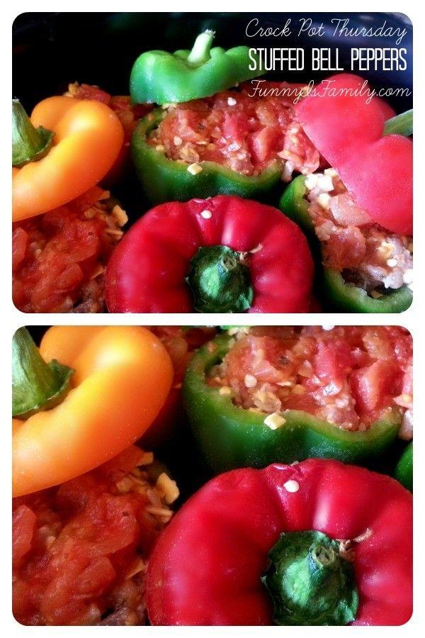 Crock Pot Thursday: Stuffed Bell Peppers #stuffedbellpeppers